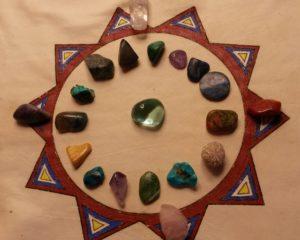 medicinhjul - stenar kristaller - kristallkväll - healing